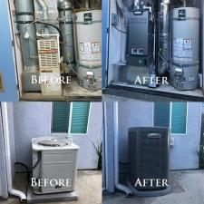 Heating air conditioning split system
